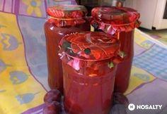Alma-szilva dzsem Beverages, Drinks, Hot Sauce Bottles, Pickles, Coca Cola, Jar, Canning, Food, Drinking