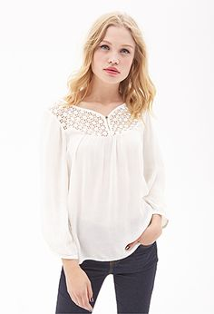 Crochet Gauze Top | Forever 21 | #thelatest