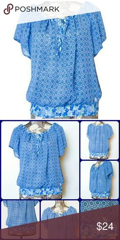 """Sz S Abercrombie & Fitch Blouse Excellent Condition, Worn 1 time, Sheer and Flowy....100% Polyester 