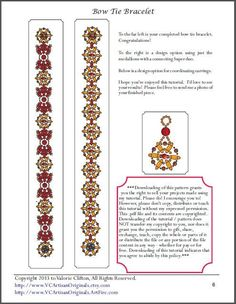 Bead Mavens: Bow Tie Bracelet by Valorie~  page 6 of 6
