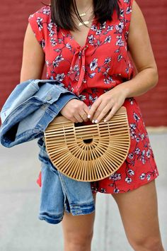 Summer Romper Outfit - Cherry Blossom - My Style Vita Warm Weather Outfits, Cool Style, My Style, Romper Outfit, Summer Romper, Rompers Women, Cherry Blossom, Spring Summer Fashion, Street Styles