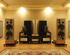 How to Build Music Studio and Audiophile Listening Room. Speaking of music, you who are musicians and like to play music, must have the desire to have a room or private studio at home. Audio Amplifier, Hifi Audio, Audiophile Music, Home Theater Speakers, Home Theater Rooms, Cinema Room, Vinyl Shelf, Sound Room, Audio Room