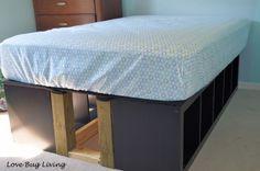 IKEA Hackers - DIY Expedit Platform Bed with extra storage