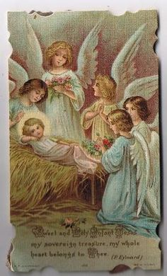 Vintage Holy Cards Prayer Cards, Saint Paul, Dated Sept. 1924, Sweet Holy Infant Jesus.