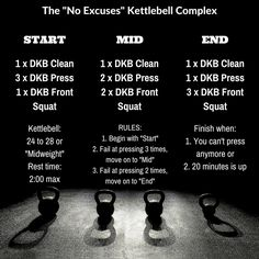 No excuses kettlebell complex