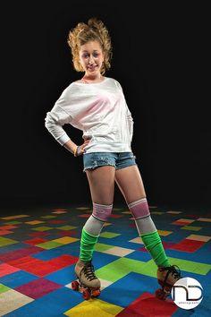 retro roller rink fashion/shoot
