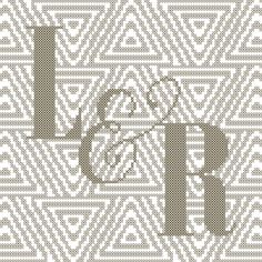 Excited to share this item from my shop: Geometric Background with initial or monogram counted cross stitch pattern Wedding Cross Stitch Patterns, Modern Cross Stitch, Counted Cross Stitch Patterns, Cross Stitch Designs, Monogram Cross Stitch, Dmc Floss, Geometric Background, Digital Pattern, Needlework