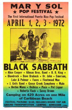 Rock festival 1972 with Black Sabbath 40 Years Ago Today, Black Sabbath Concert, Tour Posters, Music Posters, Art Posters, Acid Rock, Vintage Concert Posters, Band B, Greys Anatomy Memes
