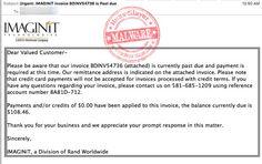 IMAGINiT 'Urgent Invoice' Malware Email