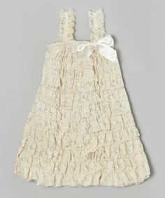 This sweet frilly lace dress has little ones party-ready and cozy enough to play! Allover stretch keeps little ladies comfy-as-can-be and makes pulling on this ruffled piece easy.