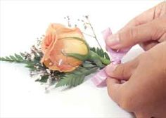 How To Make Silk Boutonnieres | two teacups: How to Make a Boutonniere for a Wedding