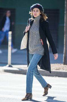 Alexa Chung Won't Stop Wearing These Ankle Boots, and We Can't Blame Her via @WhoWhatWearUK