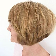 These 45 trendy short haircuts for women over 60 will help your transformations. Look at these gorgeous hairstyles, surely you can find one you like. - Page 5 Stacked Hairstyles, Over 60 Hairstyles, Short Hairstyles For Women, Bob Hairstyles, Hairdos, Wedge Hairstyles, Hair Styles For Women Over 50, Short Hair Cuts For Women, Short Hair Styles