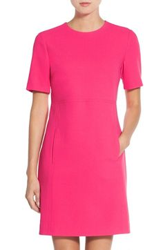Free shipping and returns on Eliza J Seamed Crepe Shift Dress (Regular & Petite) at Nordstrom.com. A handy and modern double-entry pocket fronts this Empire-waist shift cut from crisp, comfortable crepe.