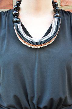 wonderful reversible asymmetrical necklace from Jennifer Loiselle