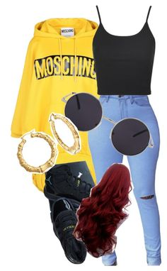 """""""Untitled #925"""" by xxxpolypiexxx ❤ liked on Polyvore featuring Moschino, Topshop, NIKE and Bling Jewelry"""