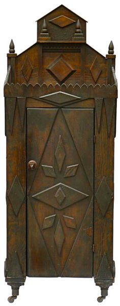 Folk art cabinet.  I want this to house all of my herbal remedies and magic potions!