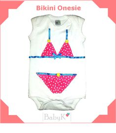 Bikini Onesie for summer from BabyK Cute Little Baby, Little Babies, Custom Made, Bikinis, Swimwear, Onesies, Girls, Summer, Outfits