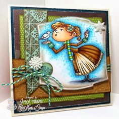 The Ink Trap: October Kard Kits at Kraftin' Kimmie Stamps!  The image is Clara by Kraftin' Kimmie Stamps, colored with Copic markers.