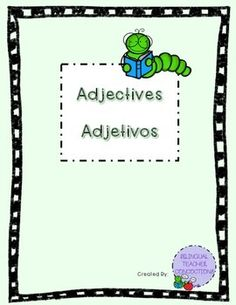 "Thank you for your download! Hope you find these worksheets useful and helpful to help you enhance your teaching about adjectives!File consists of:-Identifying adjectives worksheet-Describing ""Myself"" using adjectives worksheetAnd BEST OF ALL... These worksheets are available to you in Spanish and English!!"