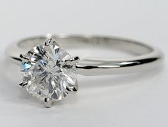 Classic Tiffany Style 4CT Round Cut Solitaire Russian Lab Diamond Rhodium Promise Engagement Wedding Anniversary Ring