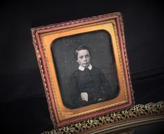 A personal favorite from my Etsy shop https://www.etsy.com/listing/224975035/photo-portrait-antique-tin-type-half