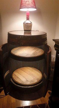 Whiskey Barrel Liquor Cabinet How Apropos Follow Rickysturn Diy