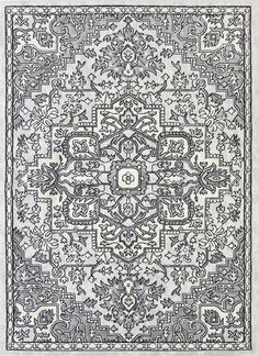 Runiullae Distressed Vintage Light Grey Light Grey Rug A marvelous exhibit of trendsetting rugs, this Collection instills life into extraordinary spaces. Expertly power-loomed in Turkey, these rugs are easy-care and virtually non-shedding. Classic designs become fashion-smart home decor in this alluring and playful collection.