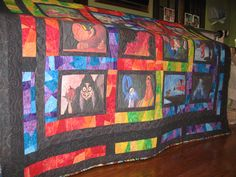 Villain quilt.  Lost me with the back, but the front is AMAZING!