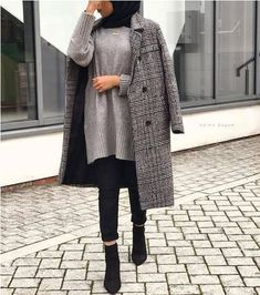 New Ideas For Dress Black Hijab Modest Fashion - hijab outfit Modest Fashion Hijab, Modern Hijab Fashion, Street Hijab Fashion, Hijab Fashion Inspiration, Hijab Chic, Muslim Fashion, Mode Inspiration, Fashion Ideas, Korean Fashion
