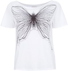 Cacharel butterfly print t shirt Cacharel