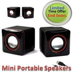 PORTABLE MINI USB DIGITAL SPEAKER FOR COMPUTER LAPTOP DESKTOP PC NETBOOK/NOTBOOK