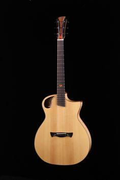 Guitare de Simon Gaillard, finissant 2016, École nationale de lutherie