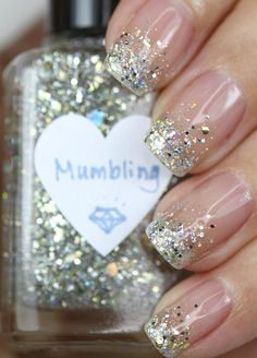 Mumbling Silver and Gold Glitter Nail Polish by TheHungryAsian, $9.25
