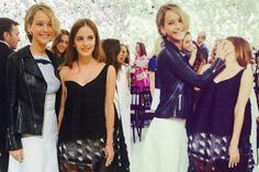 Jennifer Lawrence and Emma Watson Meet, Engage in Wacky Antics   Vanity Fair