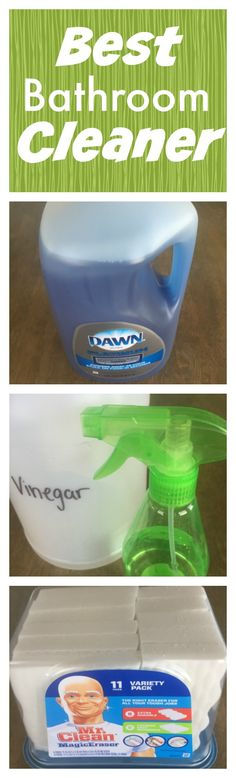 Put 2 cups vinegar in spray bottle and 2 Tbsp of blue Dawn Platinum Advanced Power and shake it up. Put spray bottle in microwave for about 30 seconds. Spray down shower with the mixture and let it sit for 5 minutes. Then wet a Mr. Clean Magic Eraser and wipe down the shower. Finally, spray off the glass with water and squeegee it. Get the Dawn Platinum Advanced Power and the Mr. Clean Magic Erasers and other awesome Procter and Gamble products at Costco.  #PGDetailsMatter #IC #ad #costco