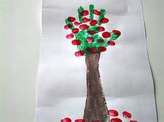 Apple Tree Painting Craft for preschool and kindergarten children. I really wanna have a Johnny Appleseed week! Back To School Art, Back To School Crafts, Apple Song, Art For Kids, Crafts For Kids, September Crafts, Preschool Crafts, Preschool Ideas, Preschool Apples