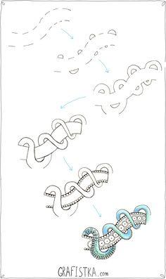 Zentangl minta - hogyan kell felhívni lépésről lépésre kötél