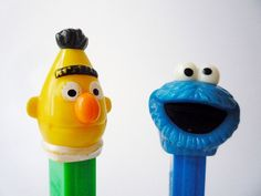 vintage Sesame Street Pez dispensers found at oppning on Etsy.