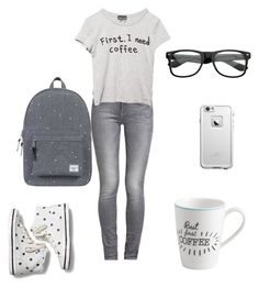 """College Casual"" by lunalynch13 on Polyvore featuring GUESS, Wet Seal, Keds, VIVO, Herschel Supply Co. and LifeProof"