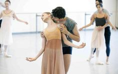 """National Ballet of Canada's Guillaume Cote and Elena Lobsanova rehearse """"Romeo and Juliet"""""""