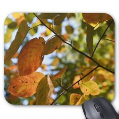 Autumn Leaves Riverside Park New York City NYC Mouse Pad - autumn gifts templates diy customize