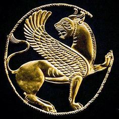 500 BC. Gold Achaemenid Lion (Persian treasures) -