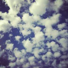 Tuesday Seattle sky. Cotton balls