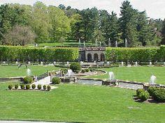 Main Fountain Garden in Longwood Gardens in Kennett Square PA - Philadelphia Photo Gallery