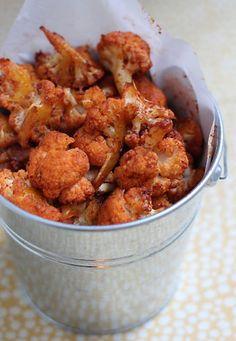 "Smoked Paprika Popcorn Cauliflower - tried this last night - even my ""no cauliflower eating"" husband liked it!"