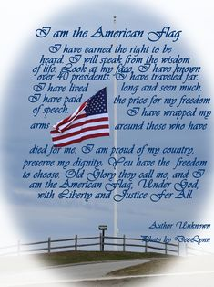 I am the American Flag. American Symbols, American Pride, American Flag Facts, I Love America, God Bless America, Lds Quotes, Inspirational Quotes, Patriotic Pictures, Star Spangled Banner