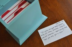 kid quote box - to keep all the funny things your children say. cute idea!