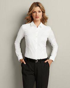 Best shirt I've ever owned for work! Wrinkle-free Long-sleeve Shirt - Solid   Eddie Bauer