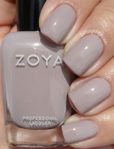 Zoya — Eastyn- Neutrals can sometimes be hit or miss for me, but I really love this one. It has lavender undertones, and looked great on me, if I do say so myself. Normal wear time, very easy to remove.